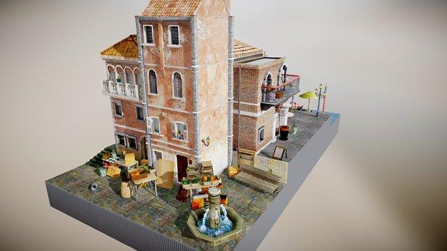 Test City Scene Venice 3D Model