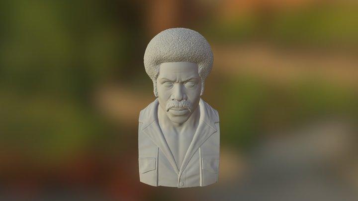Black Dynamite Bust 3D Model
