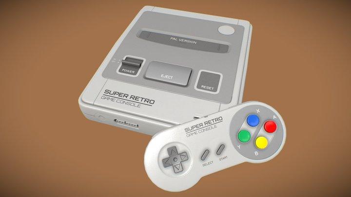 Super Retro Game Console 3D Model