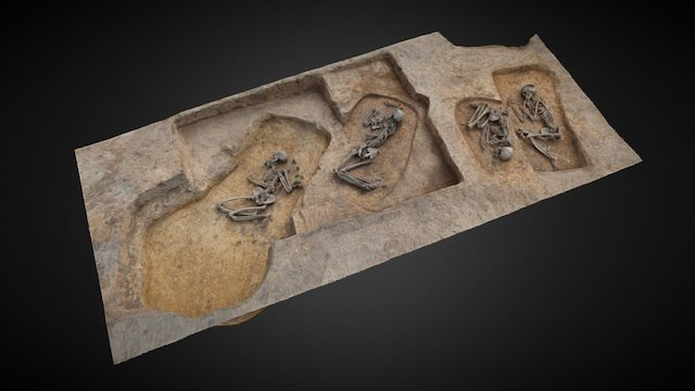 Early Bronze Age graves, Kornice, PL. 3D Model