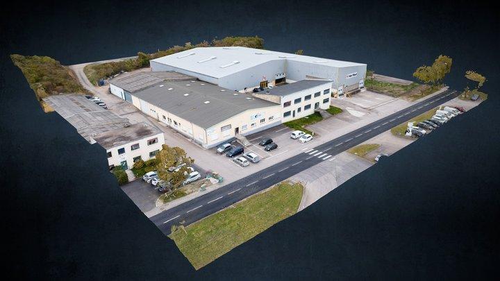 Entrepot dans une zone industrielle 3D Model
