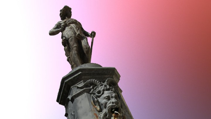 Fountain depicting the goddess Ceres 3D Model