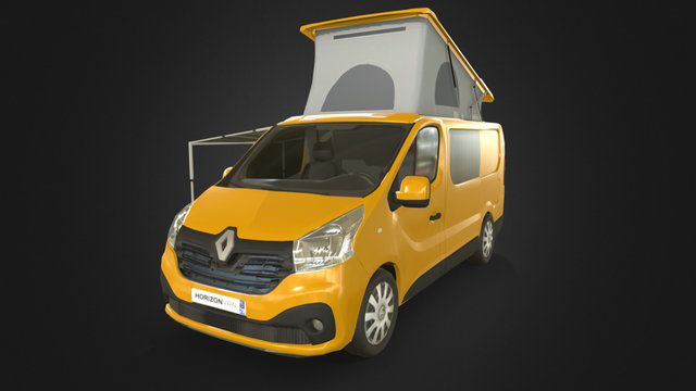 Renault Trafic : camping ready ! 3D Model