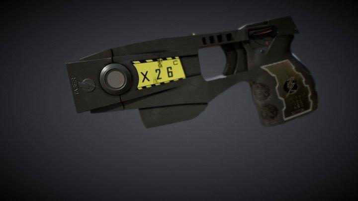 Taser X26c Gun 3D Model