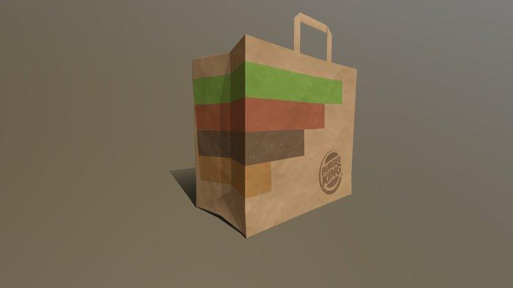 Burger King Paper Bag 3D Model