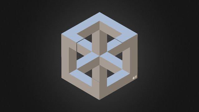 Isometric Cube 3D Model