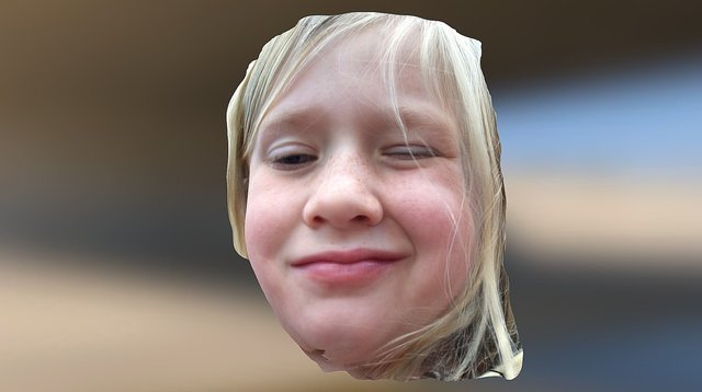 Kaylie Face Scan 3D Model
