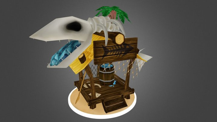 Fishermen's Hut School Project 3D Model