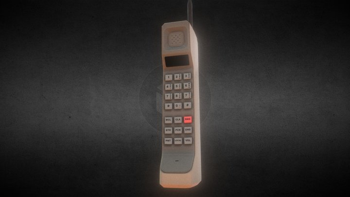 Old Cell Phone (Brick Phone) 3D Model