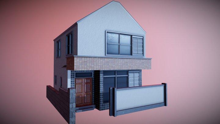 Japanese Residential Home 01 3D Model
