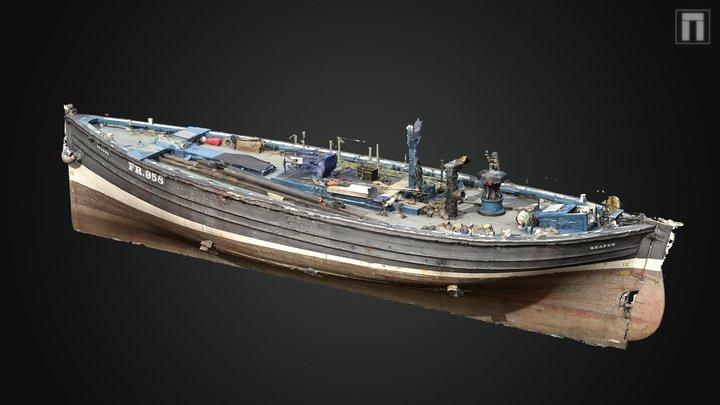 Reaper, Fifie class sailing herring drifter 3D Model