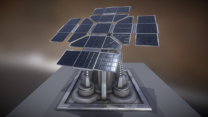 Futuristic Solar Power Tower 3D Model