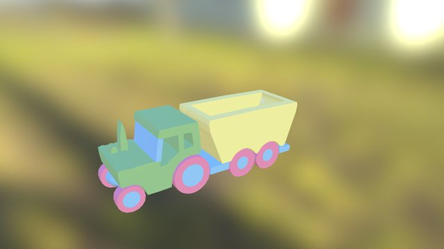 Tractor made with Doodle3D Transform 3D Model