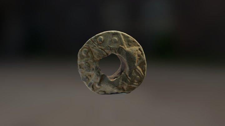 Medieval Lead Spindle Whorl 3D Model