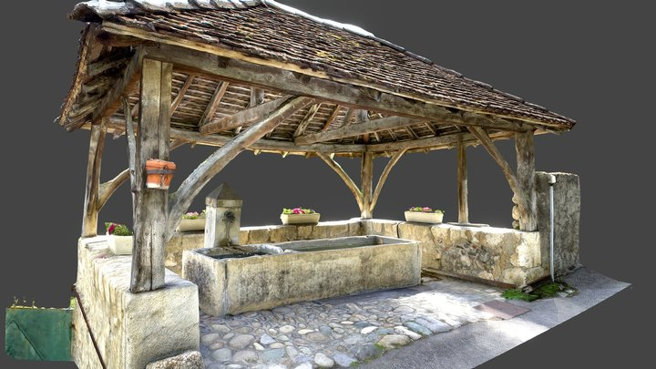 Lavoir/Wash house, St-Vincent-de-Mercuze, France 3D Model