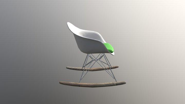 Cadeira de balanço plastico 3D Model