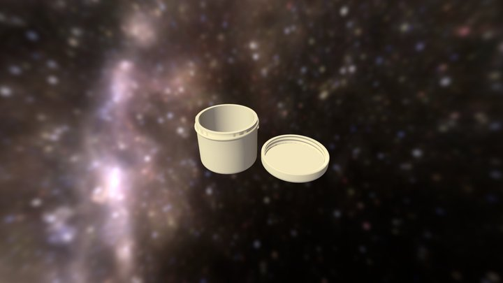 "Space Container ""Honey Jar"" 3D Model"