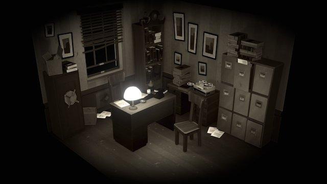 Noir room 3D Model