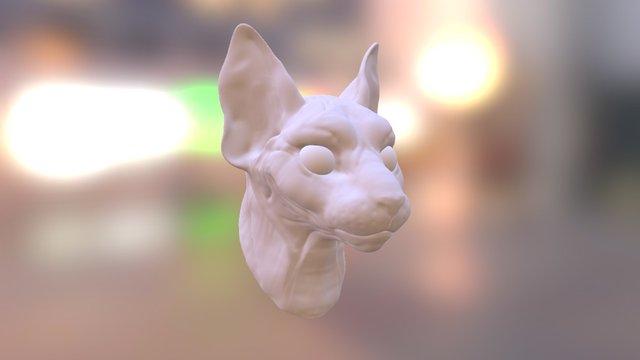 Cat Head 3D Model