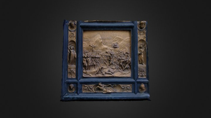 Panel from Gate of Paradise 3D Model