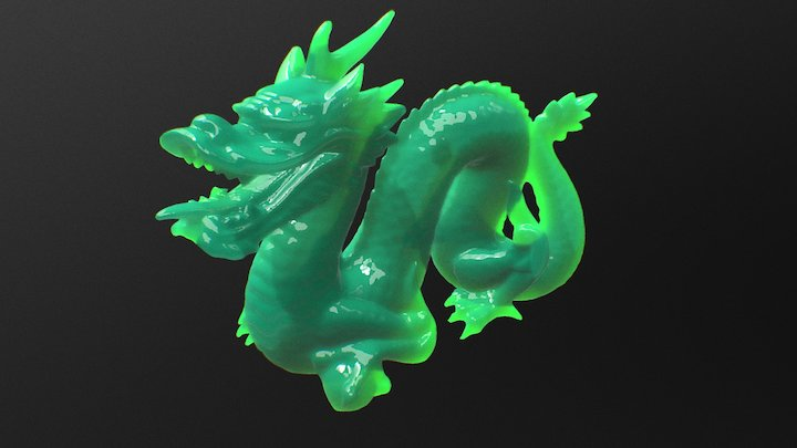 Stanford Dragon SSS Test 3D Model