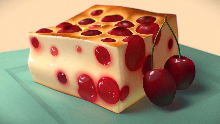 Cherry Clafoutis 3D Model