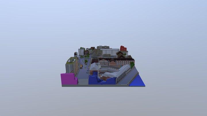 LiègeCraft - carte finale du Club LiègeCraft 3D Model