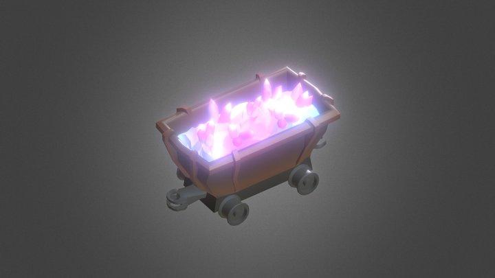Mine Cart Crystal 3D Model