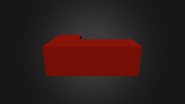 Puzzle Cube Red Part SS 3D Model
