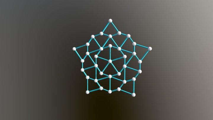 36 60 1 Star Nonperiodic Penrose Tiling 3D Model