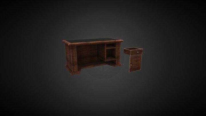 meja kantor 3D Model