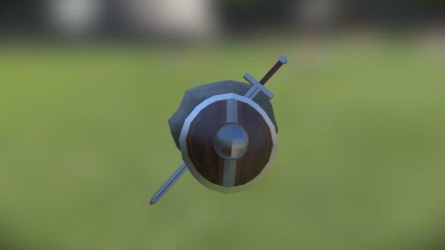 Sword and Shield 3D Model