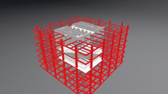 struttura piano tipo grattatacielo 3D Model