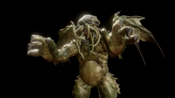 Mighty Cthulhu: Lord of Madness 3D Model