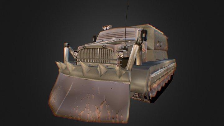 BAT-M Russian Truck 3D Model