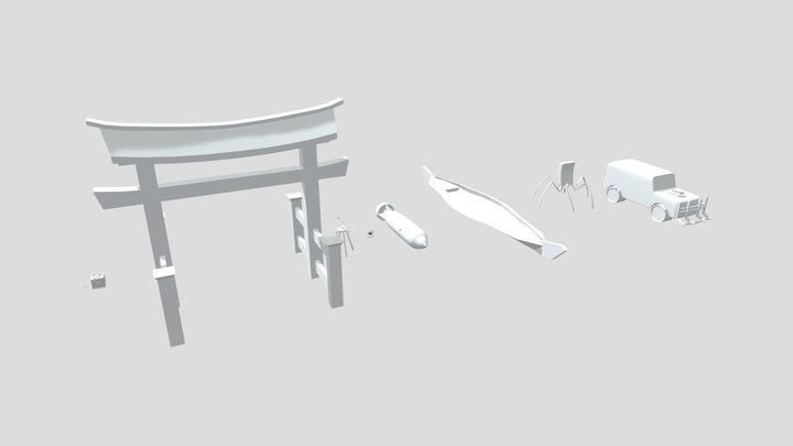 Draft punk silhouette HomeWork 3 3D Model