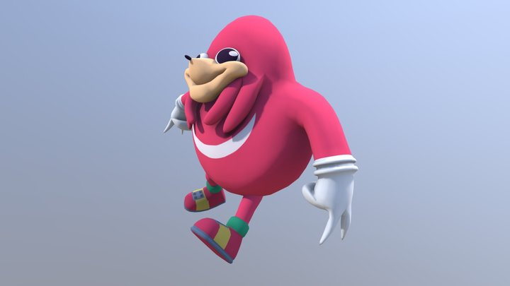 Ugandan Knuckles 3D Model