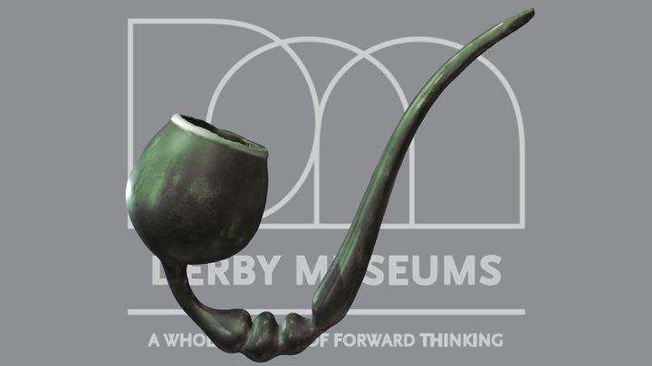 Glass 'Frigger' Pipe 3D Model