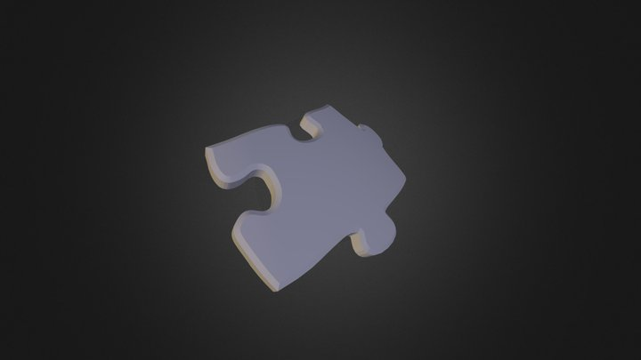 puzzle piece E4 3D Model