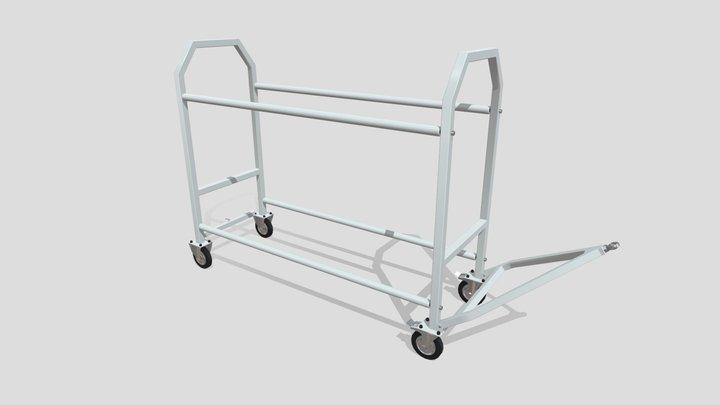 Wheel & Tyre Trolley 3D Model