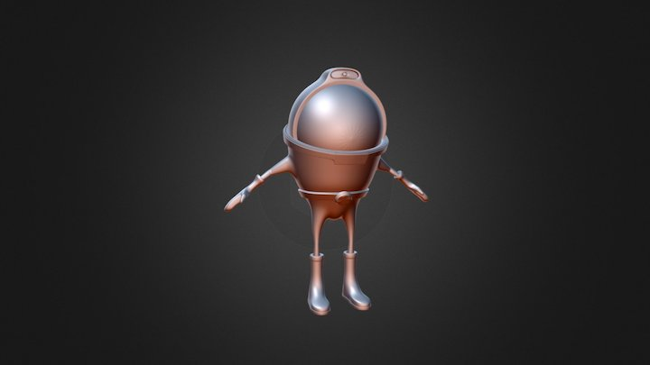 Merged Astronaut9 3D Model