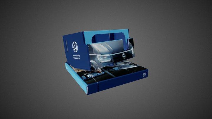 VW - Crafter Dark Blue - VW cardboard goggles 3D Model