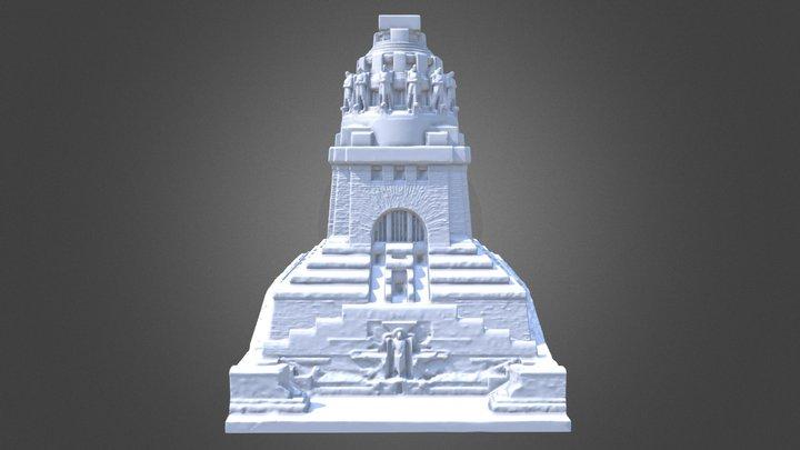 Völkerschlachtdenkmal 3D Monu. Battle of Nations 3D Model