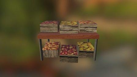 Fruitstall 3D Model