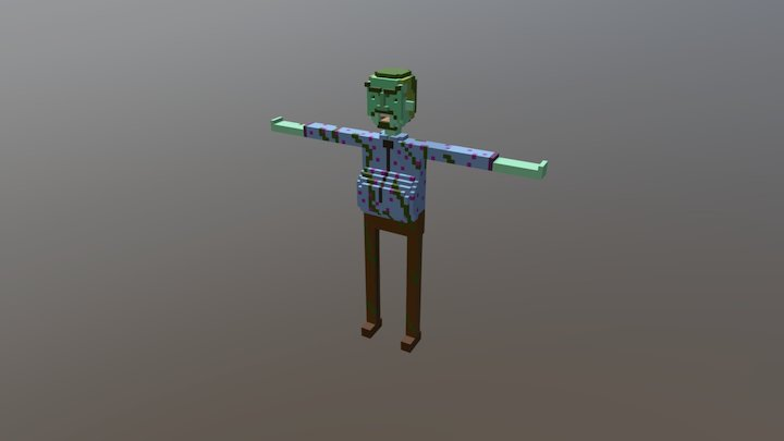 Zombie Landlord (Green) 3D Model