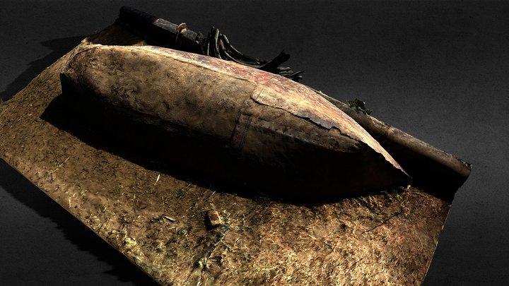 Sudanese Rowing Boat 3D Model