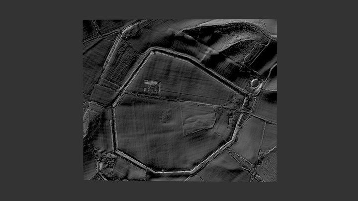 Silchester Roman Town Lidar 3D model 3D Model