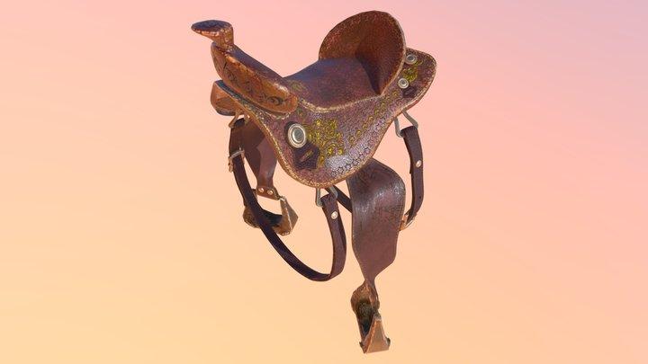 Saddle, Stirrup, Belt, Buckle, Botton 3D Model