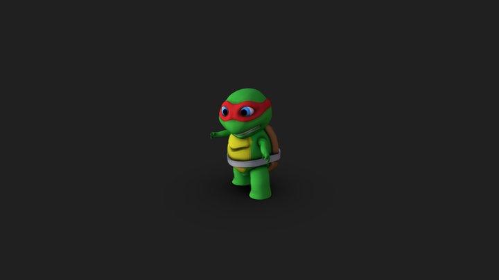 Teenaje Mutant Ninja Turtle. chibi 3D Model