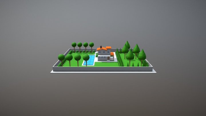 low poly house 3D Model